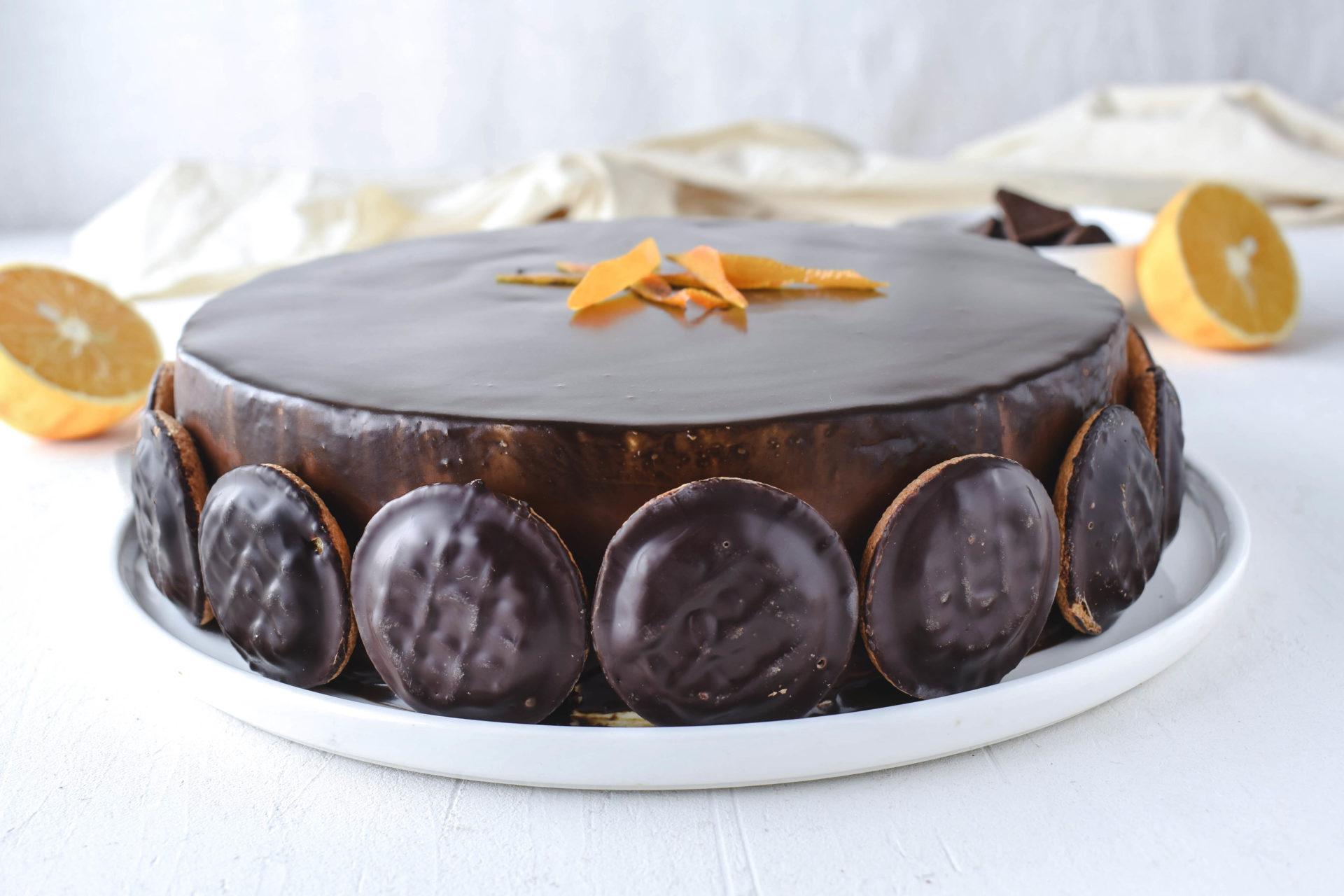 Soft Cake Torte Biskuittorte Mit Orangengelee Und Schokolade