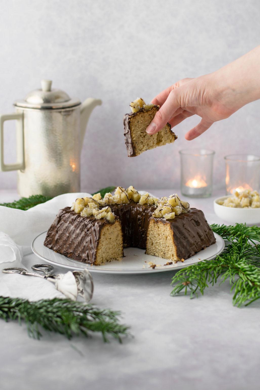 Honey Chai Gugelhupf Recette simple et rapide de miel hivernal Chai Gugelhupf avec glaçage. Décorez avec du gingembre. Juteux et légèrement épicé. #Gugelhupf # gâteau éponge #Chai